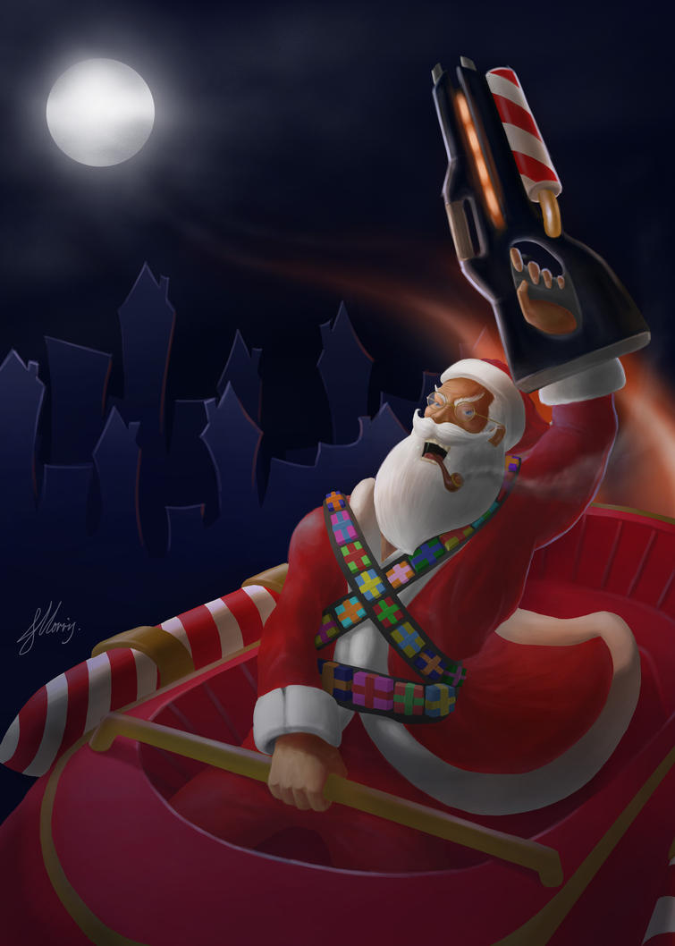 Epic-Santa by OfficialJellyArt