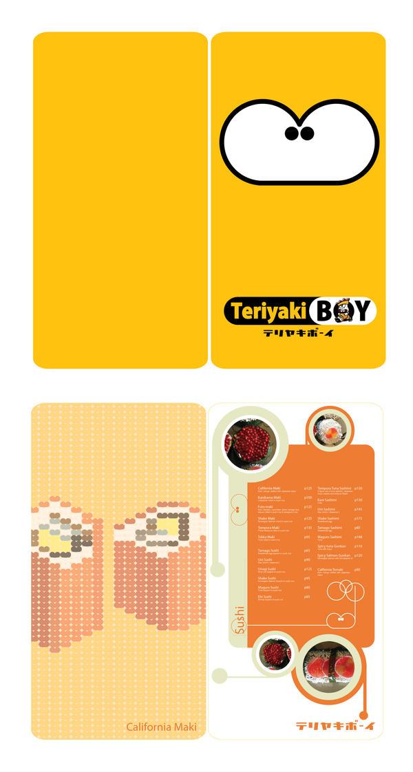 Teriyaki Boy Menu Concept by bloodriotryu