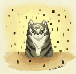 Chibi Wolf Link by PiggyBlackWhite