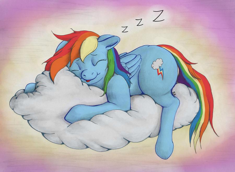 Sleepytime Dashie by nezudomo