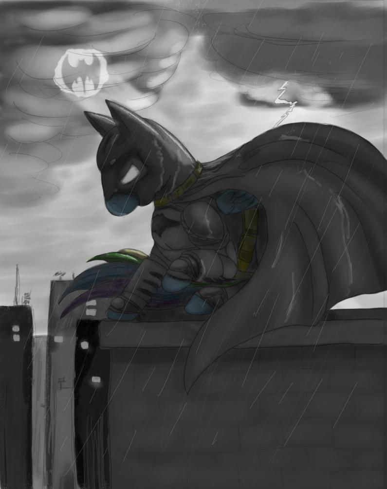 #333696 - artist:ellissummer, batman, catwoman, crossover ...  |Batman Rainbow Dash