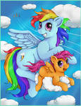 Just Rainbow Dash and Scootaloo