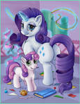 Just Rarity and Sweetie Belle