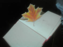 Book Art page #1: Not a Leaf, Page One