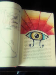 Book Art page #6: All Seeing Eye
