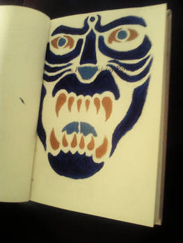 Book Art page #7: Stenciled Beast