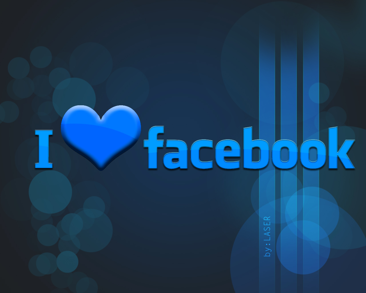 Nice Profile Free Hd Wallpapers For Fb: I Love FACEBOOK Wallpaper By LASERR00 On DeviantArt