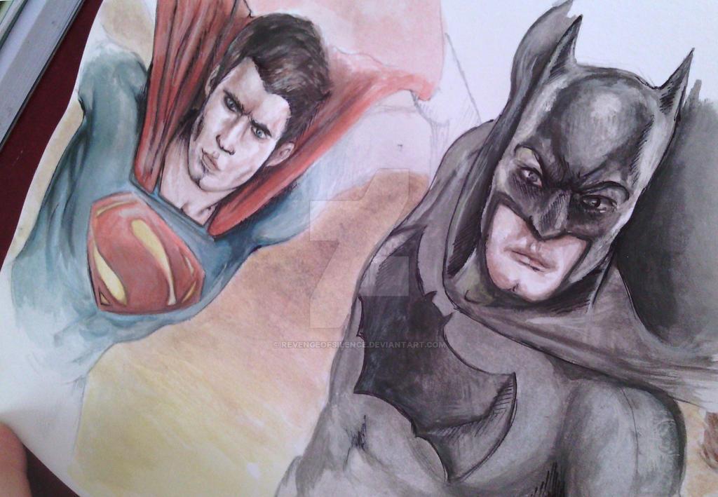 Batman v Superman by RevengeOfSilence