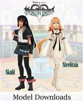 .:{MMDxKHUX} Skuld + Strelitzia Model DL :. by VulpesFelidaeMMD