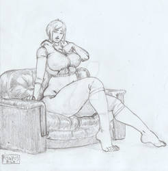 Commission - Karen on Sofa 2 - FONZOS