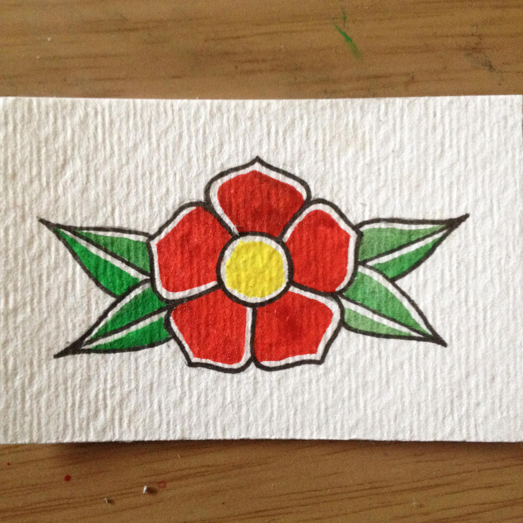 Traditional Tattoo Style Flower Painting by borrowed bones on DeviantArt