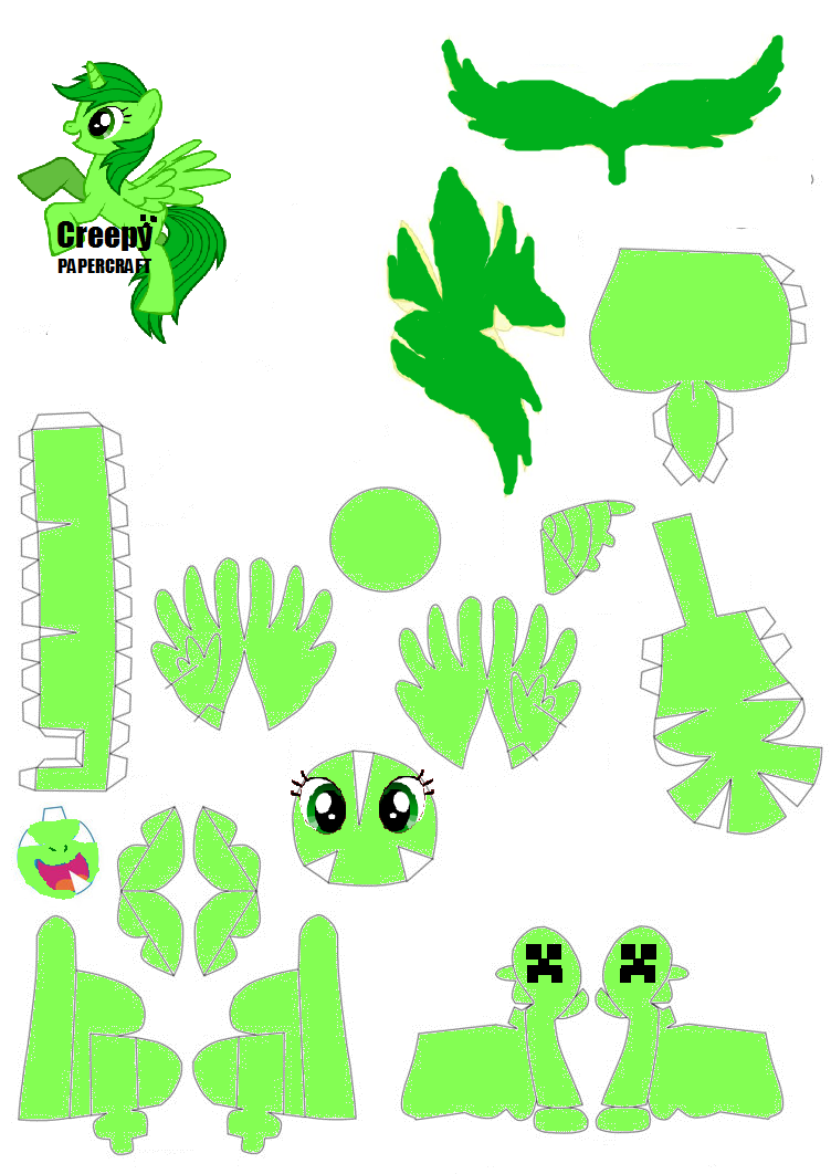 Minecraft Papercraft Templates Creeper Creepy papercraft pattern by