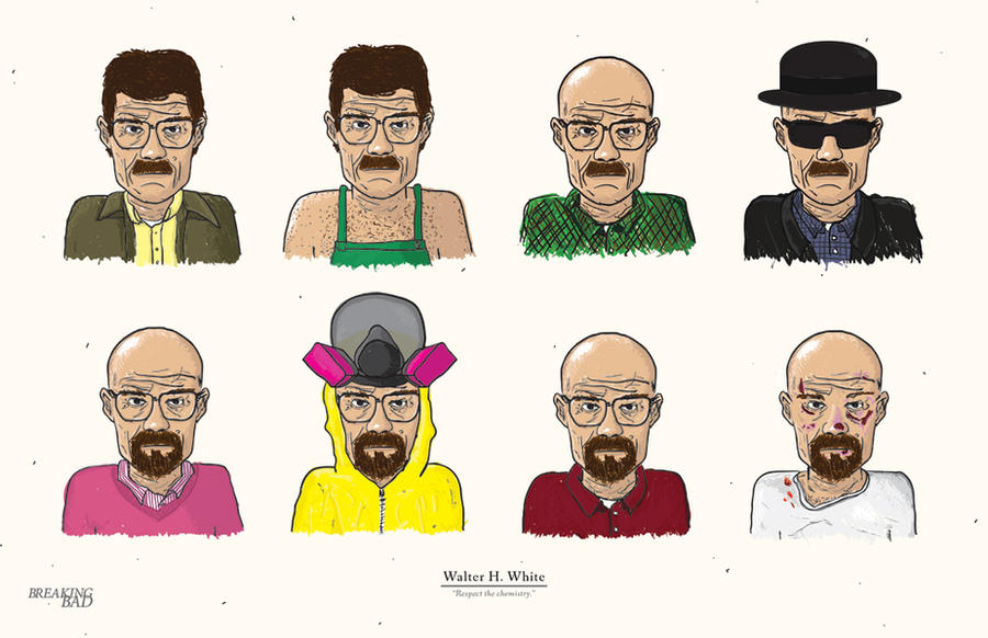 Breaking Bad: The Evolution of Walter White by edsonmuzada
