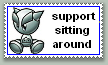 sitting around by StampCollectors