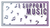 I Support Music by StampCollectors