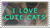 I Love Cute Cats by StampCollectors