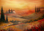 tuscan oil painting