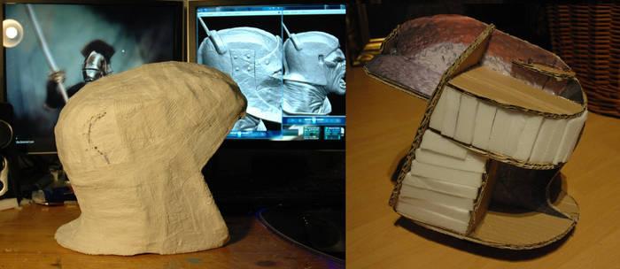 Uruk Hai helmet base - WIP from LOTR