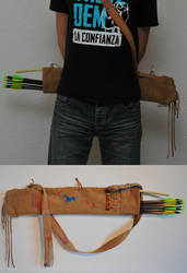 Leather Quiver -Native American Style-