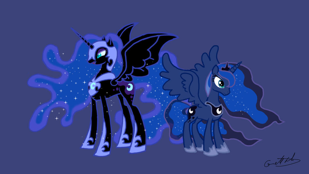 My Little Pony Princess Luna and Nightmare Moon by comguy on