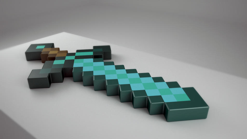 Minecraft diamond sword by tom55200