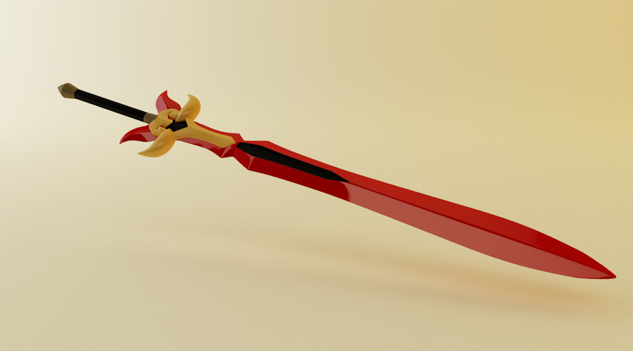 Erza Flame Empress Sword by tom55200
