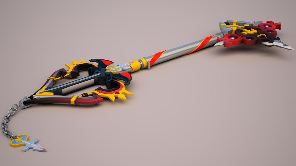 Soras New Keyblade by tom55200