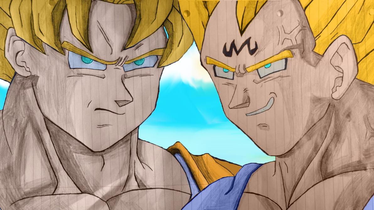 Goku vs Majin Vegeta by tom55200 on DeviantArt