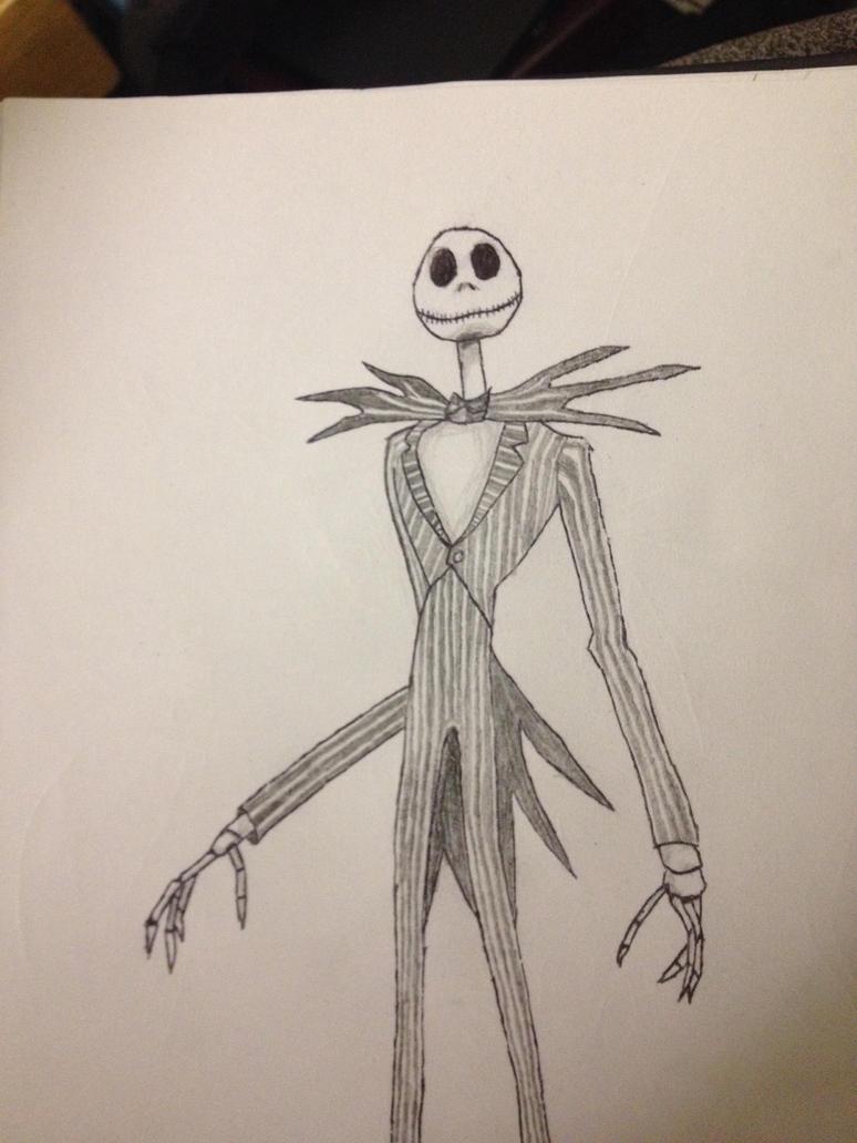 Jack skellington sketch by tom55200