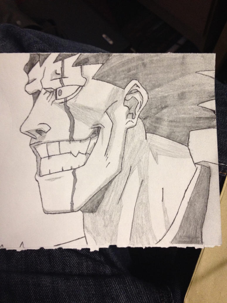 Kenpachi face sketch by tom55200