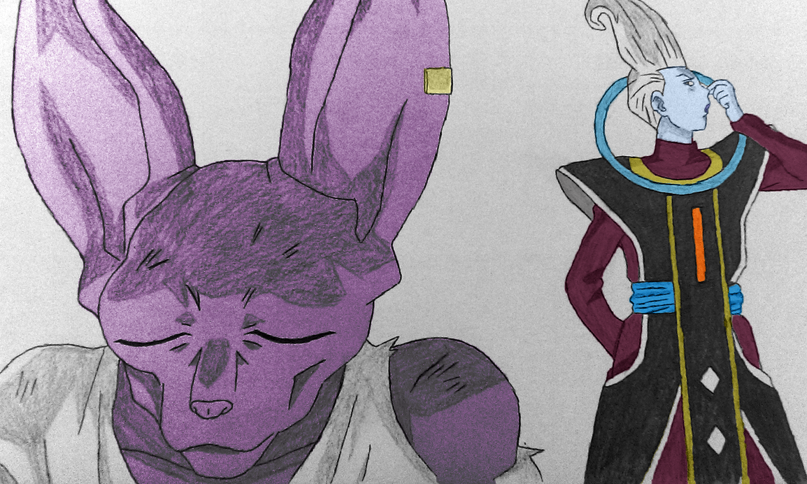 Coloured version of Whis and Beerus. by tom55200