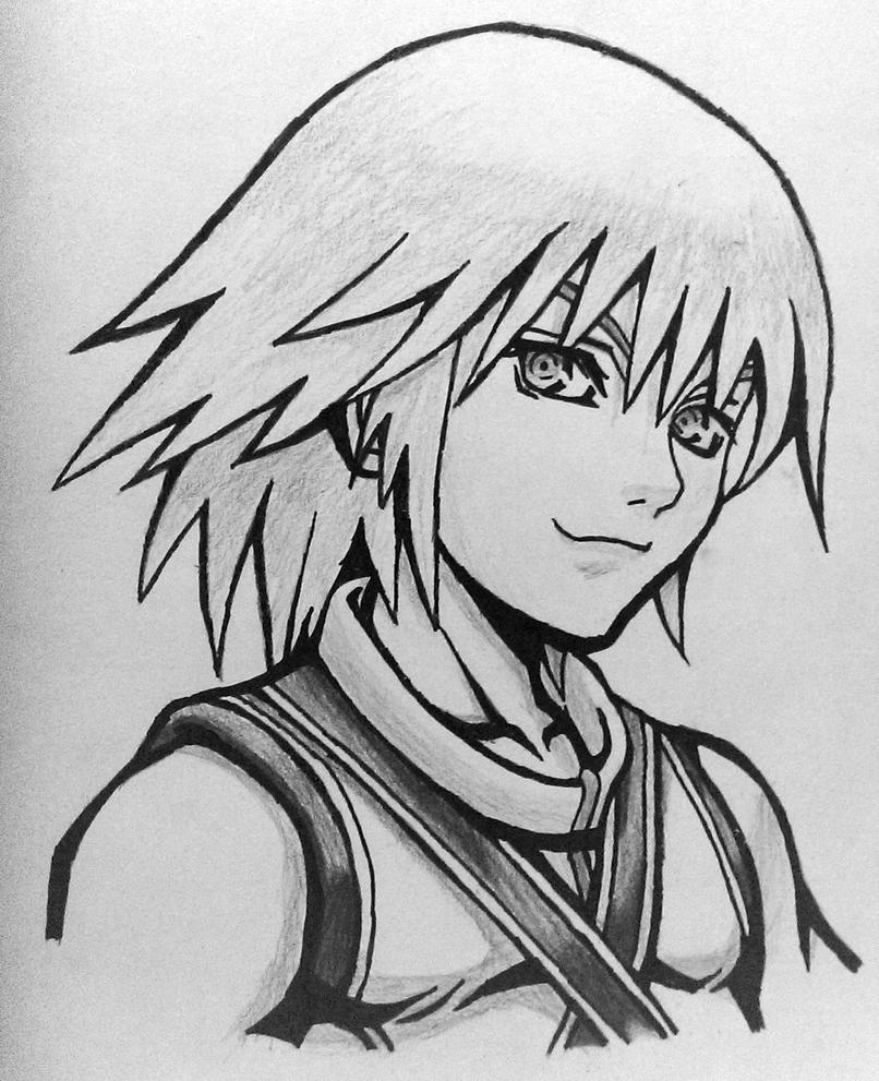 Finished Riku Sketch by tom55200