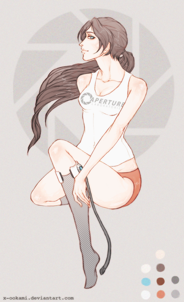 Portal - Chell by X-ookami