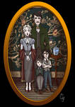 Portrait of Black family from Harry Potter