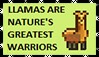 Llamas Are Nature's Greastest Warriors STAMP by amanda4quah