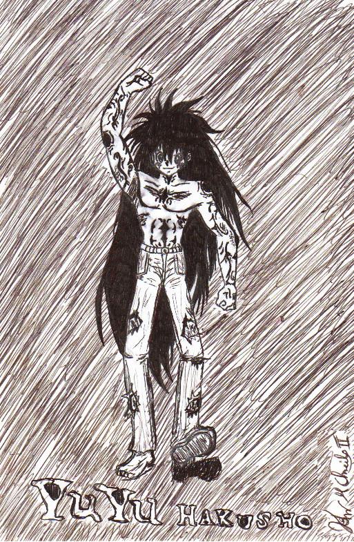 Yuyu hakusho yusuke demon form by johnalmeidaii on deviantart for Yusuke demon