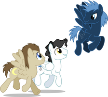 Space Ponies 2 (1 Year on deviantART) by ChainChomp2