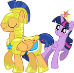 Flash Sentry and Princess Twilight Sparkle