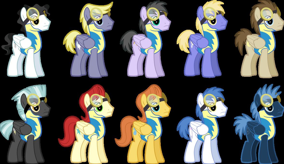 Boy Mlp Hairstyles: Stallion Wonderbolt Cadet Dump By ChainChomp2 On DeviantArt