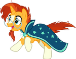 Sunburst Excitedly Running