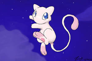 Mew in the Twilight by crayon-chewer