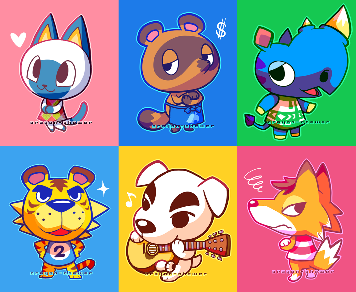 chibi animal crossing villagers cute