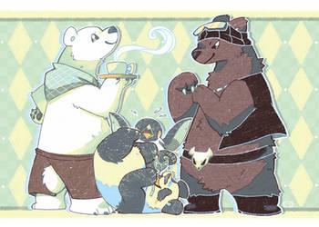 Polar Bear's Cafe by crayon-chewer