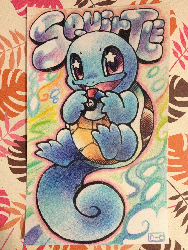squirtle index card by crayon chewer on deviantart
