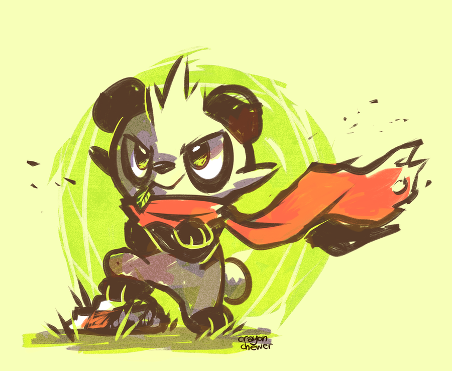 Little Panda Fighter! by crayon-chewer