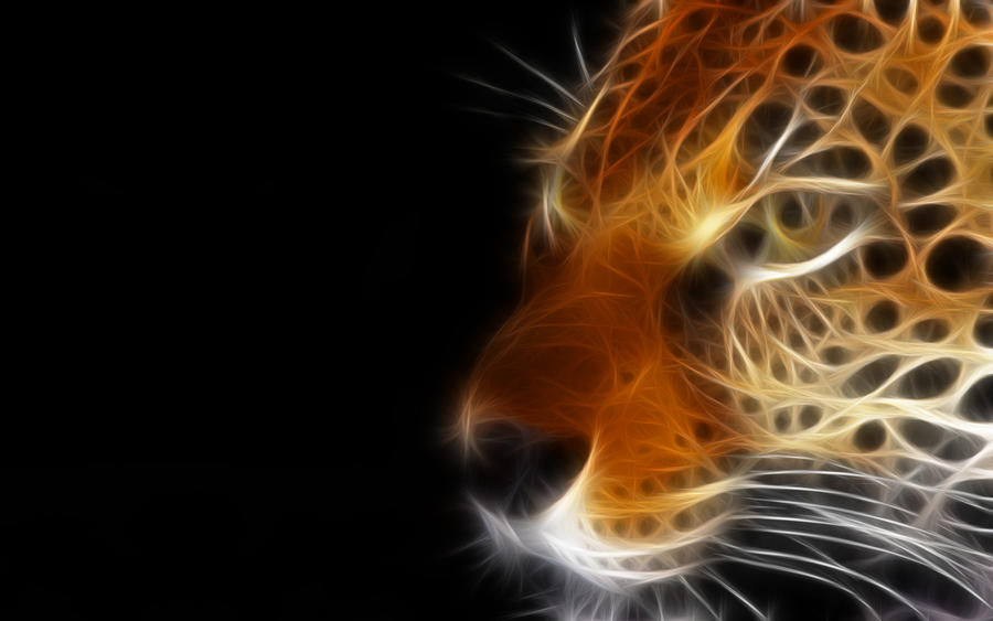 Digital Leopard Art Wallpapers: Weeks Wallpapers: Dark And Indigo, Abstract And Fractals