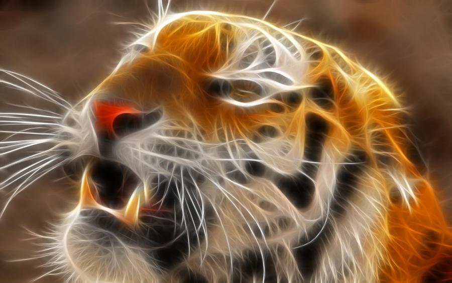 tiger fractal cats e - photo #13