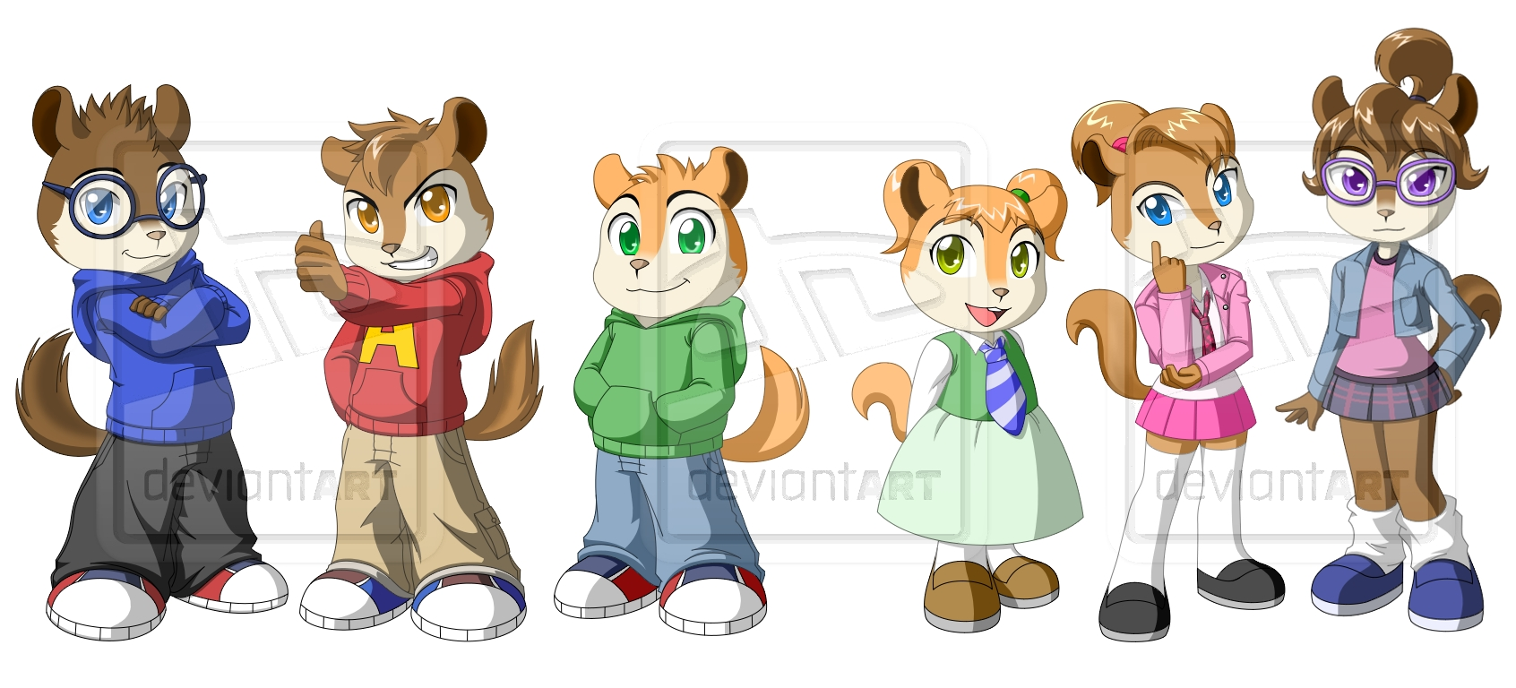 The Chipmunks And Chipettes By Pak009 On DeviantArt