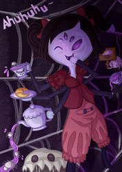 Dont be stingy now~ (Muffet Fanart) by animeangel554