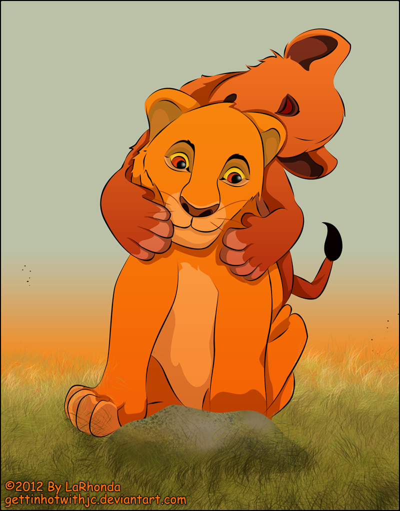 Young Scar and Mufasa by MissKingdomVII